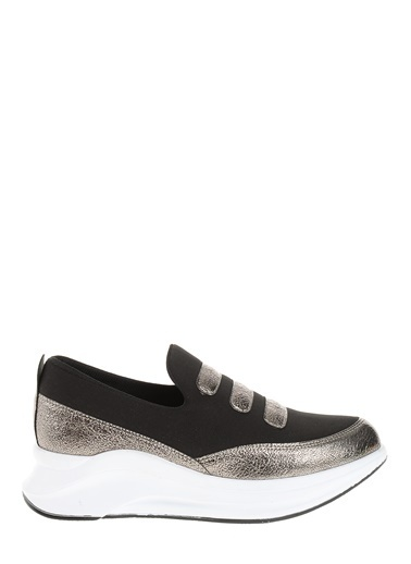 Derigo Dolgu Topuklu Ayakkabı Gümüş